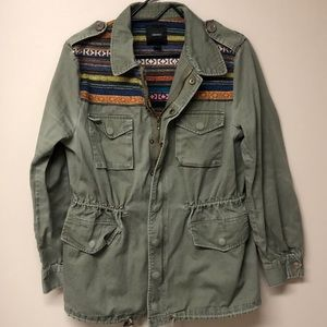 Forever 21 | army green utility jacket w/ detail